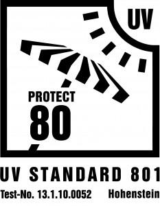 Zertifizierter UV 80 Schutz nach Standard 801 für Zack Premium