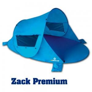 Strand Windschutz in der Windmuschel Zack Premium mit verschließbaren Fenstern