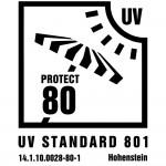 14.1.10.0028 80 1 Label Zack Premium grün 150x150 Zertifizierter UV 80 Schutz nach Standard 801 für Zack Premium
