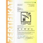 UV80 Zertifikat für galerie 150x150 Zertifizierter UV 80 Schutz nach Standard 801 für Zack Premium